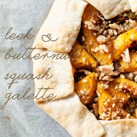 leek & butternut squash galette