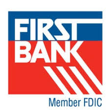 First Bank Logo - red white and blue
