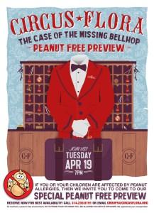 Circus Flora Peanut Free Performance Poster