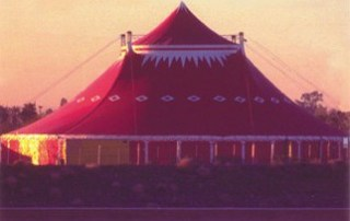 Circus Flora Tent in twilight