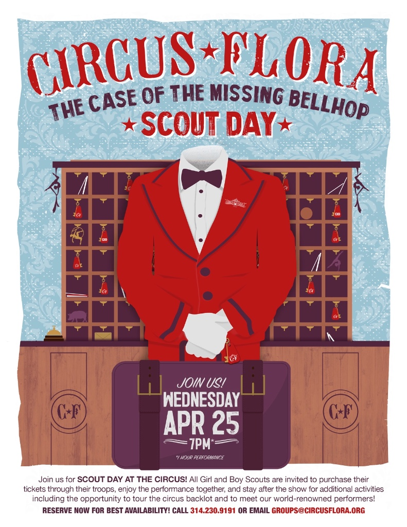 Case of the Missing Bellhop Scout Day Poster