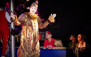 Yo yo the Clown narrates a show.