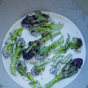 broccoli in tempura batter