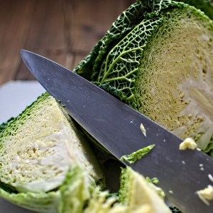raw cabbage wedges