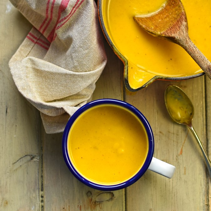 rutabaga and carrot soup with smoked paprika