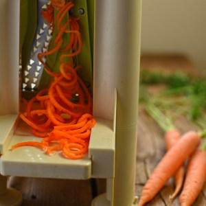 spiralised carrot