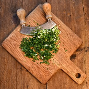 chopped herbs and spring onions