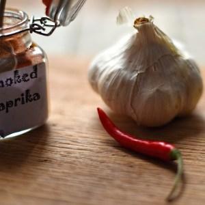 garlic, chilli, smoked paprika