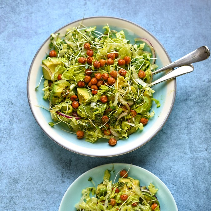 roast chickpea and avocado salad