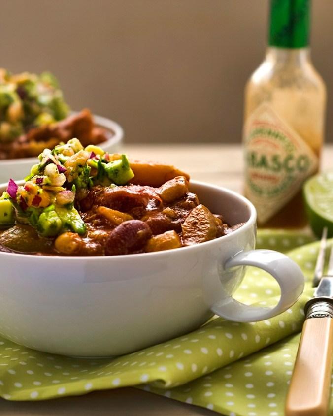 winter squash and bean chilli