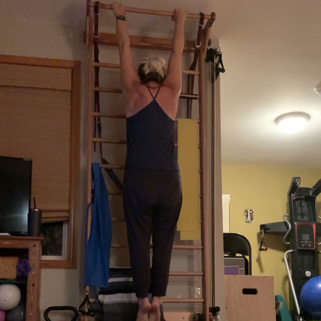 Pull Up Tips for Aerialists. Jessica John demonstrates hanging.