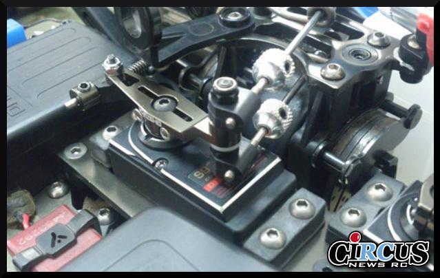 Palonnier de gaz en aluminium option pour Kyosho MP9