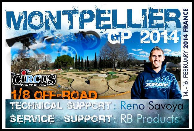 Le support pour les pilotes XRAY sera assuré au GP de Montpellier 2014
