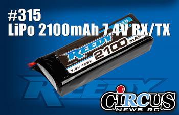 Nouveau LiPo 2100 mAh en 7.4 Volt RX/TX Reedy