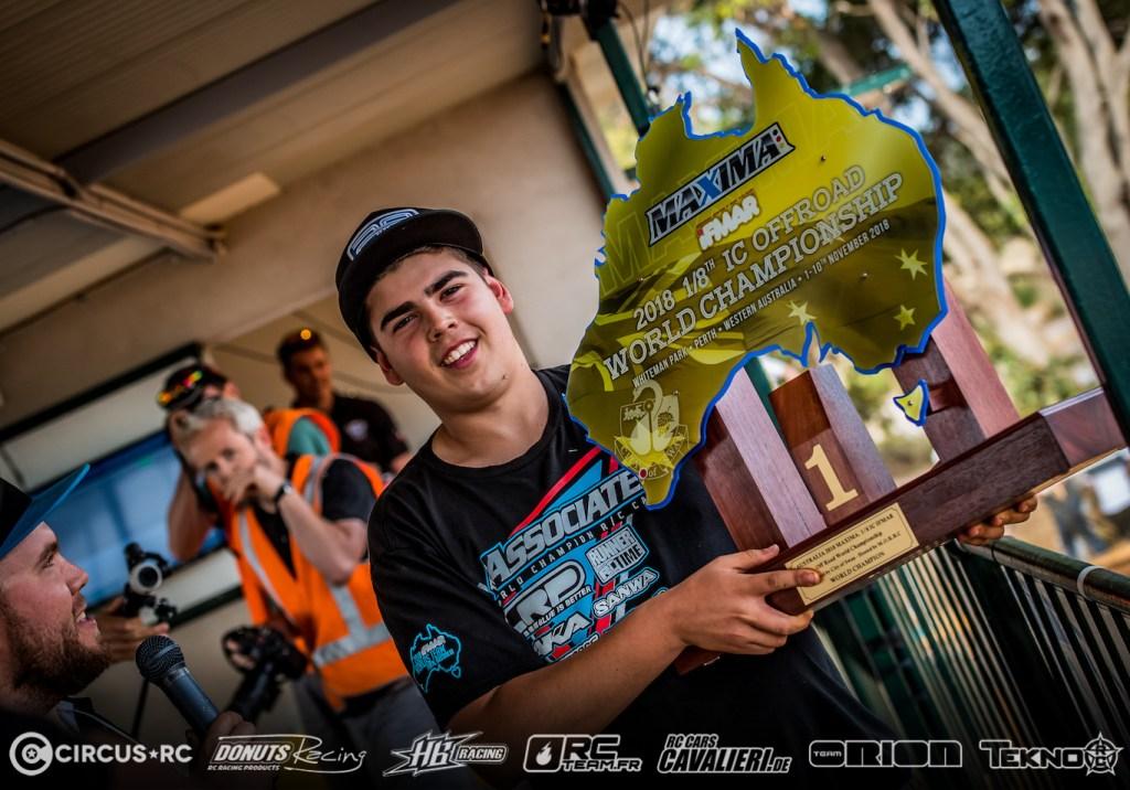 Davide Ongaro sacré Champion du Monde 1/8 nitro Buggy