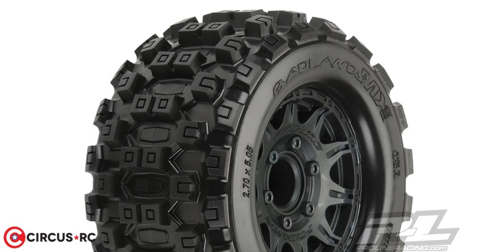 Pro-Line Badlands MX28 & Trencher 2.8″ All Terrain pre-mounted tyres