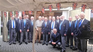 Some of the CMVC members at Stratton Court with former member David Crowhurst