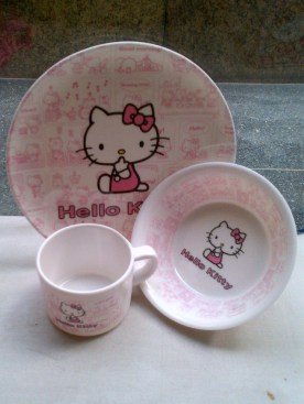 Hello Kitty Pink Cutlery Sets