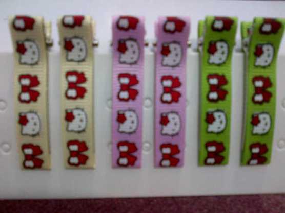 Jepit Rambut seri Hello Kitty (ukuran 4,8cm)