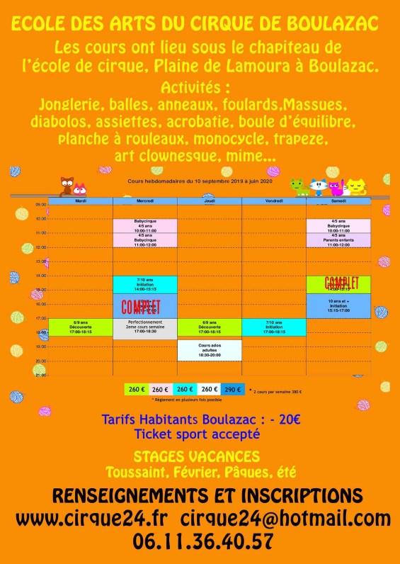 Ecole des arts du cirque de Boulazac - Périgueux verso-7-2019-2-6-213x300 Actualité de l'école du cirque
