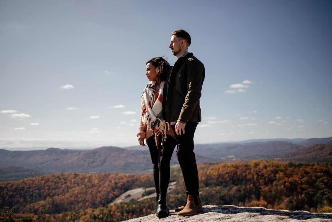 adventure fall engagement session