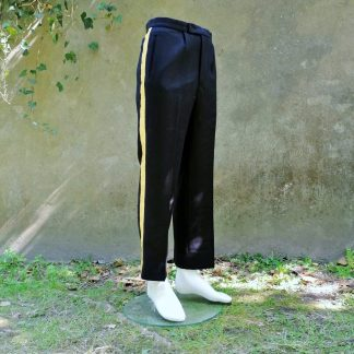 striped pants gold
