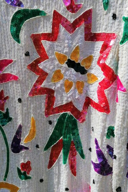 Sequin Hand Embroidered Silk Top 2.01, detail 1