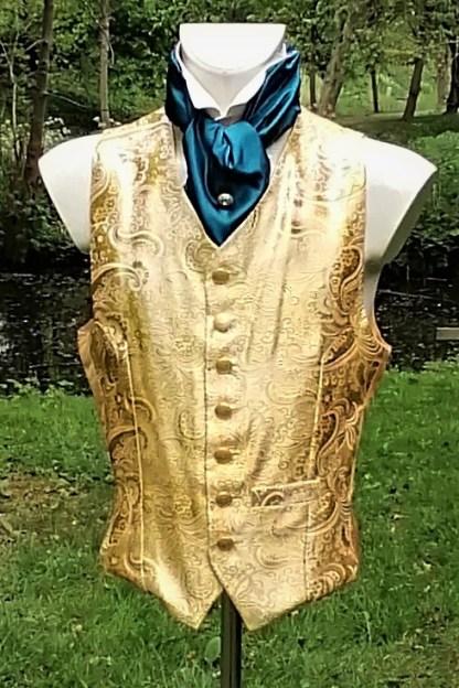 Tailored Jacquard golden Vest, front 1