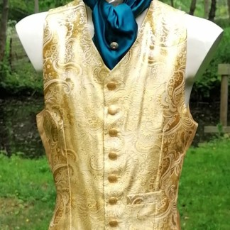 Tailored Jacquard golden Vest, front