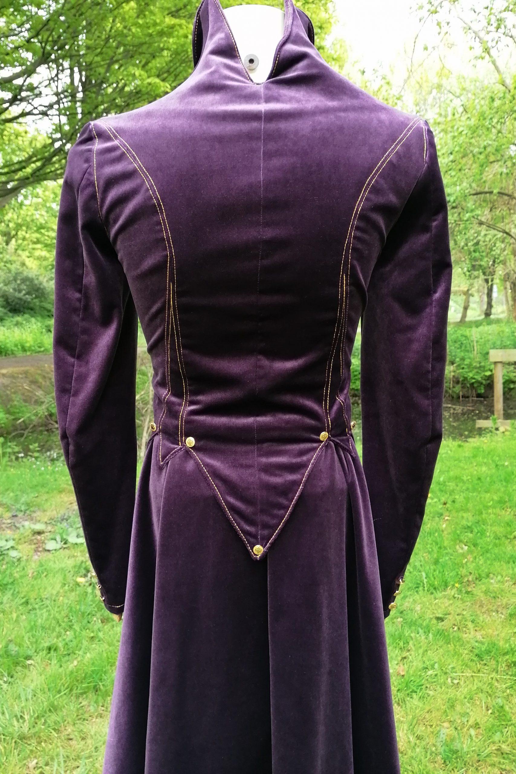 Jacket Coat Purple Velvet Gold Metallic Prince Vintage Jacquard Blazer