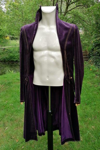 Tailored Velvet Purple Jacket Purple, front 1