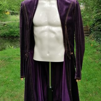 Tailored Velvet Purple Jacket Purple, front 1