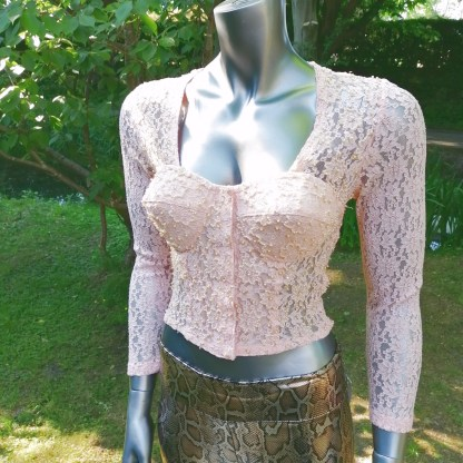 pink lace top cup