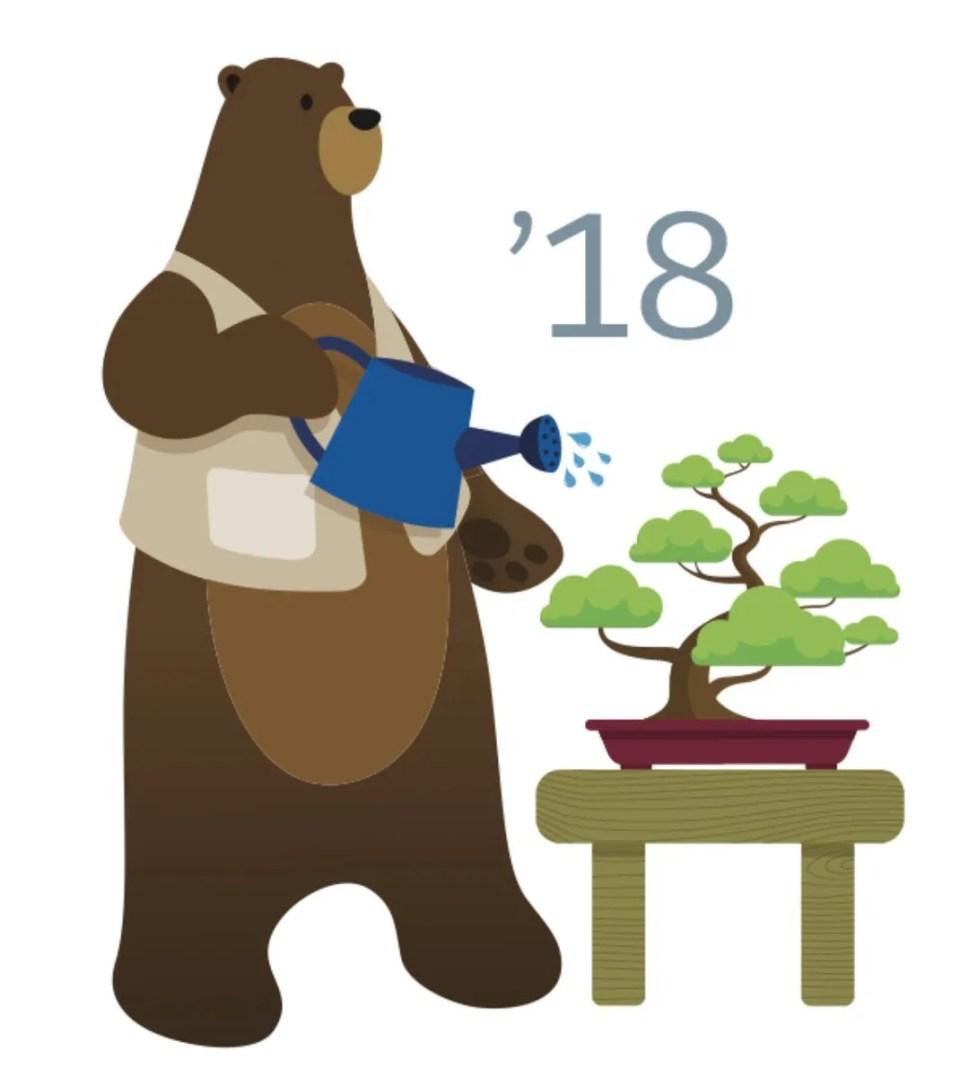 Salesforce Spring 18 release logo