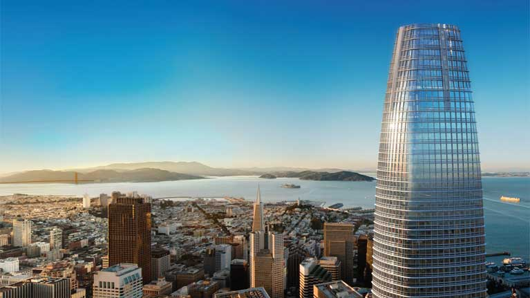 Salesforce Tower in the San Fran skyline