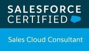 Salesforce Certified Sales Cloud Consultant badge