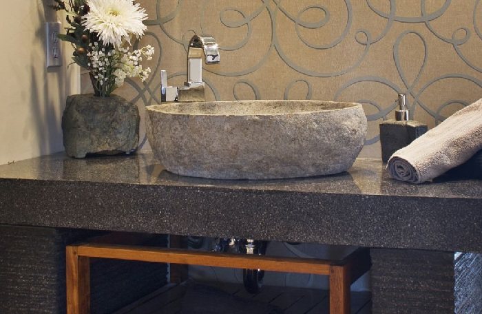 cirrushdsite home decor ideas: single stone bathroom sink