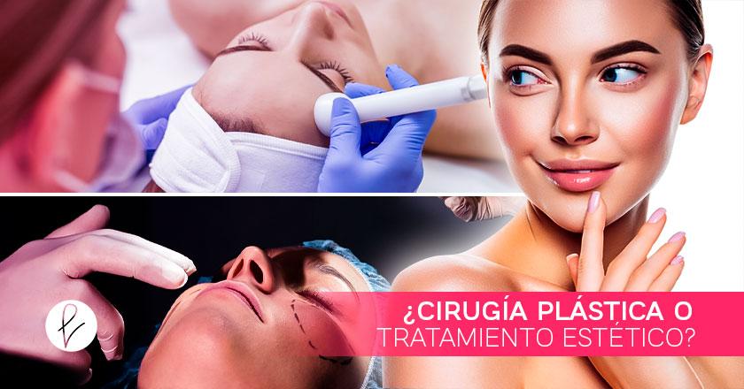 ¿Cirugía plástica o tratamiento estético?