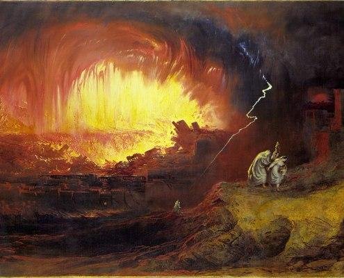 Vayeira. The Destruction of Sodom and Gomorrah (1852 painting by John Martin). Public Domain
