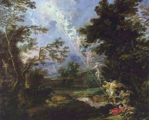 Vayetze. Landscape with the Dream of Jacob, by Michael Willmann, c. 1691. Public Domain