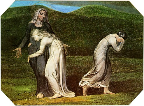 William Blake. Naomi entreating Ruth and Orpah to return to the land of Moab.