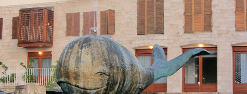 A whale fountain in old Jaffa