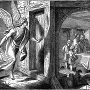 """the """"Angel of Death"""" drawing from Bible Pictures and What They Teach Us1, the illustration by William Henry Margetson"""