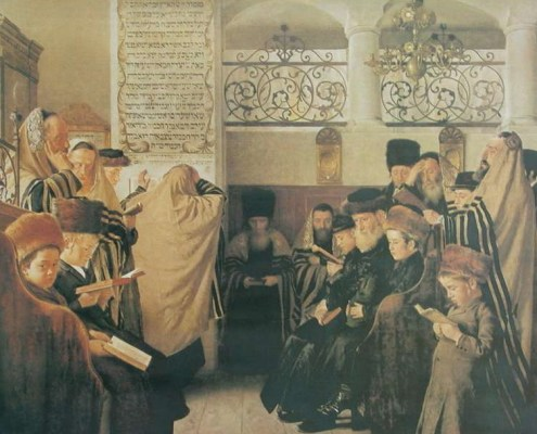 Day of Atonement (painting circa 1900 by Isidor Kaufmann)