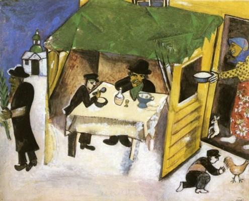 "Марк Шагал. ""Праздник Кущей (Суккот)"" 1916 год Люцерн, Швейцария, Галерея Розенгарт"