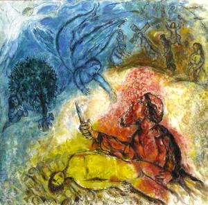 Марк Шагал «Жертвоприношение Исаака»