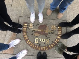 Standing in the center of Spain!