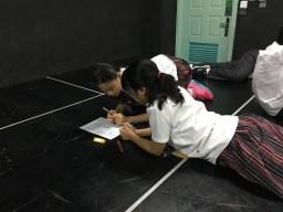 Working on set designs