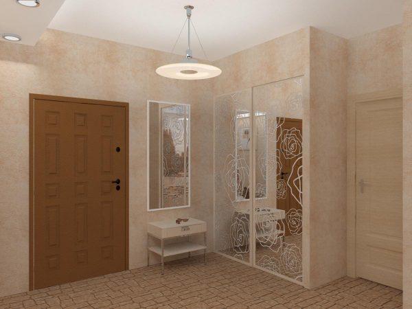 квадратный коридор в квартире дизайн фото 7