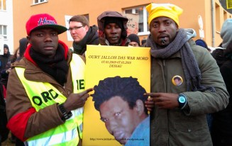 07.01.2015 - Dessau (Germany) - participation in the Demonstration in memory of the 10 anniversary of Oury Jalloh's death